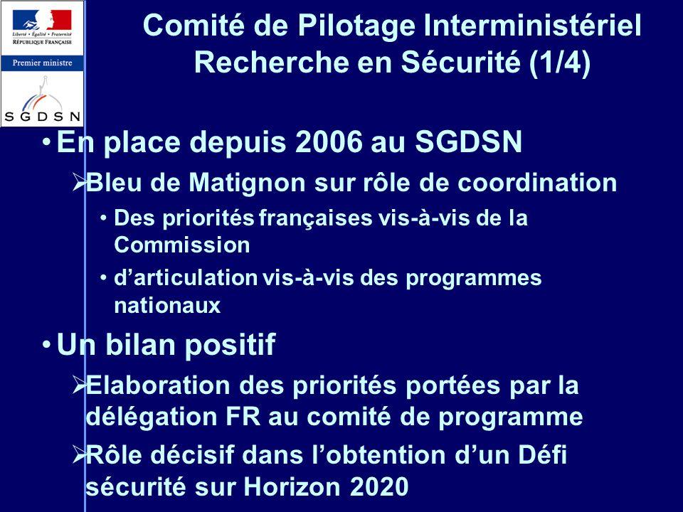 Comité de Pilotage Interministériel Recherche en Sécurité (1/4)