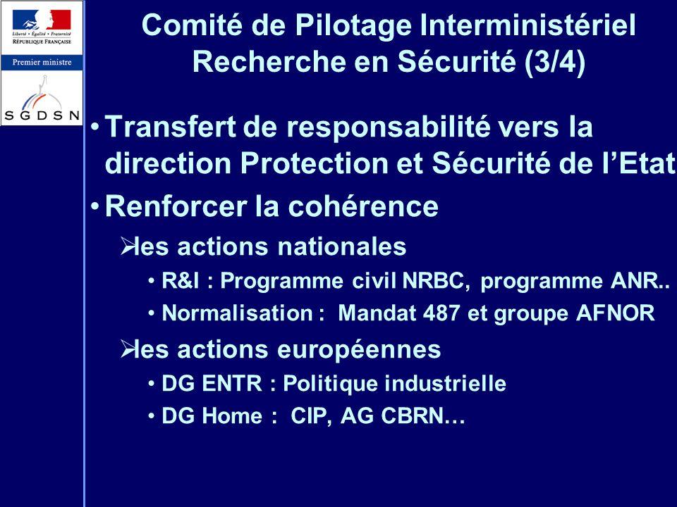 Comité de Pilotage Interministériel Recherche en Sécurité (3/4)