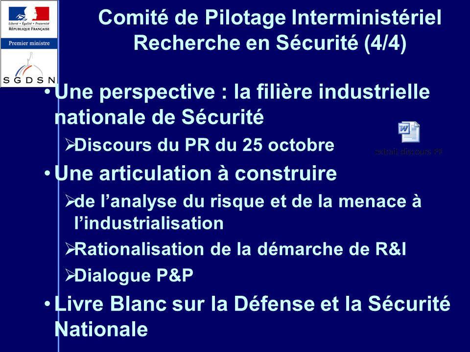Comité de Pilotage Interministériel Recherche en Sécurité (4/4)