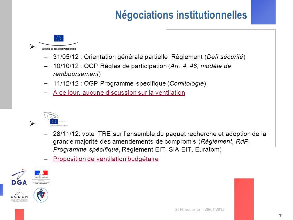 Négociations institutionnelles