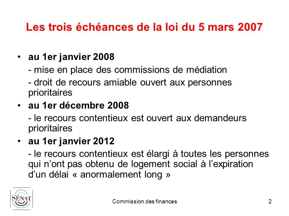 Les trois échéances de la loi du 5 mars 2007