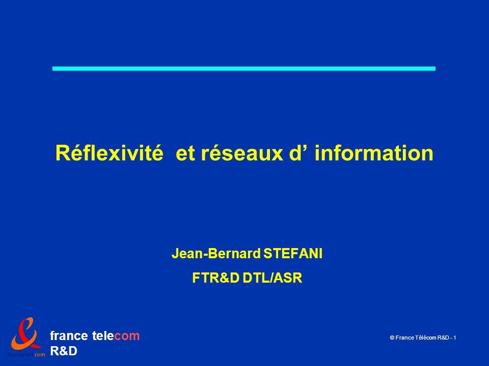 Réflexivité et réseaux d' information