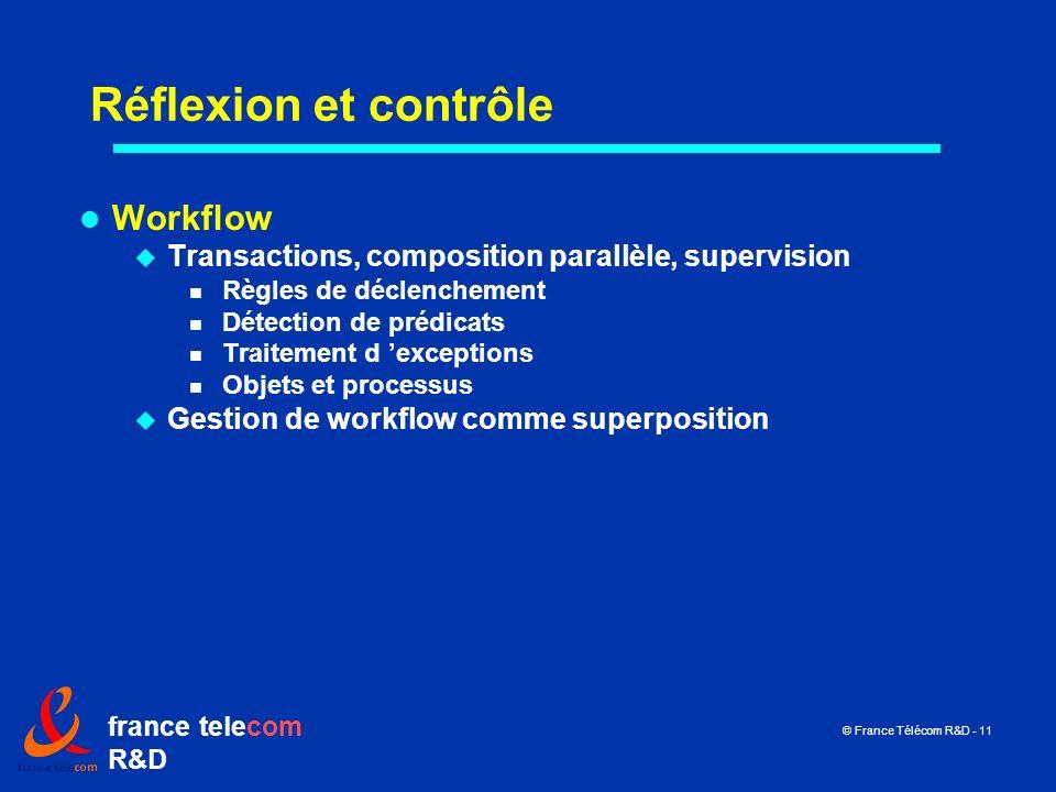 Réflexion et contrôle Workflow