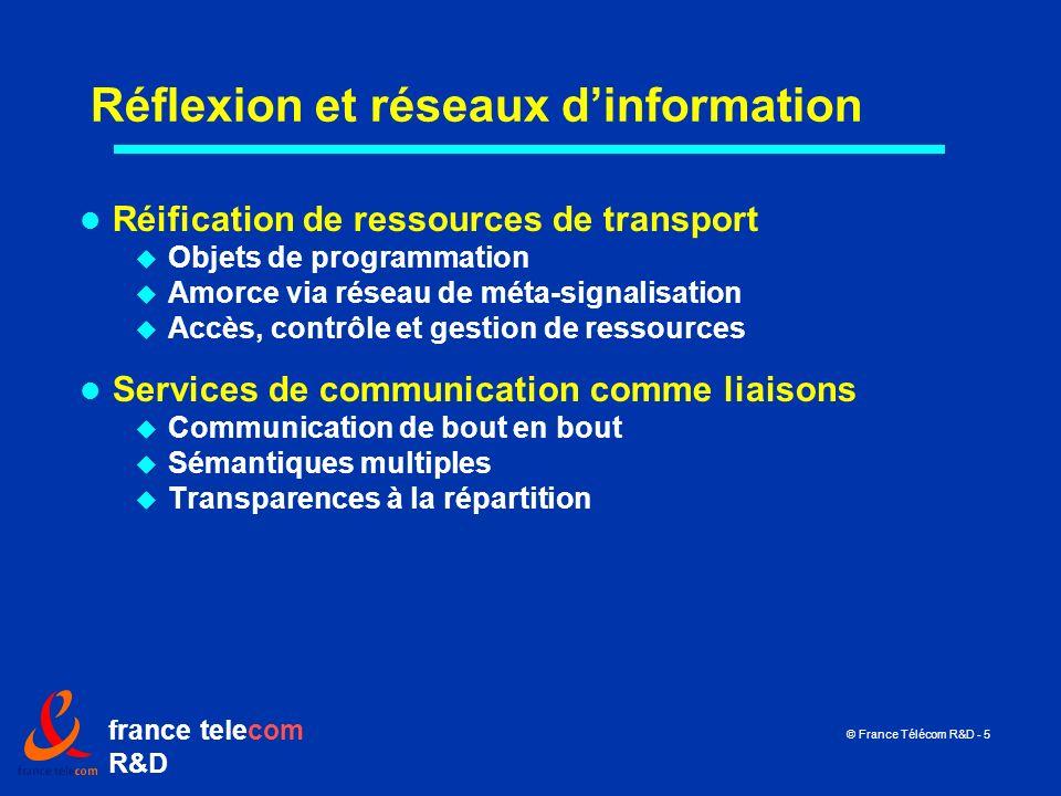 Réflexion et réseaux d'information