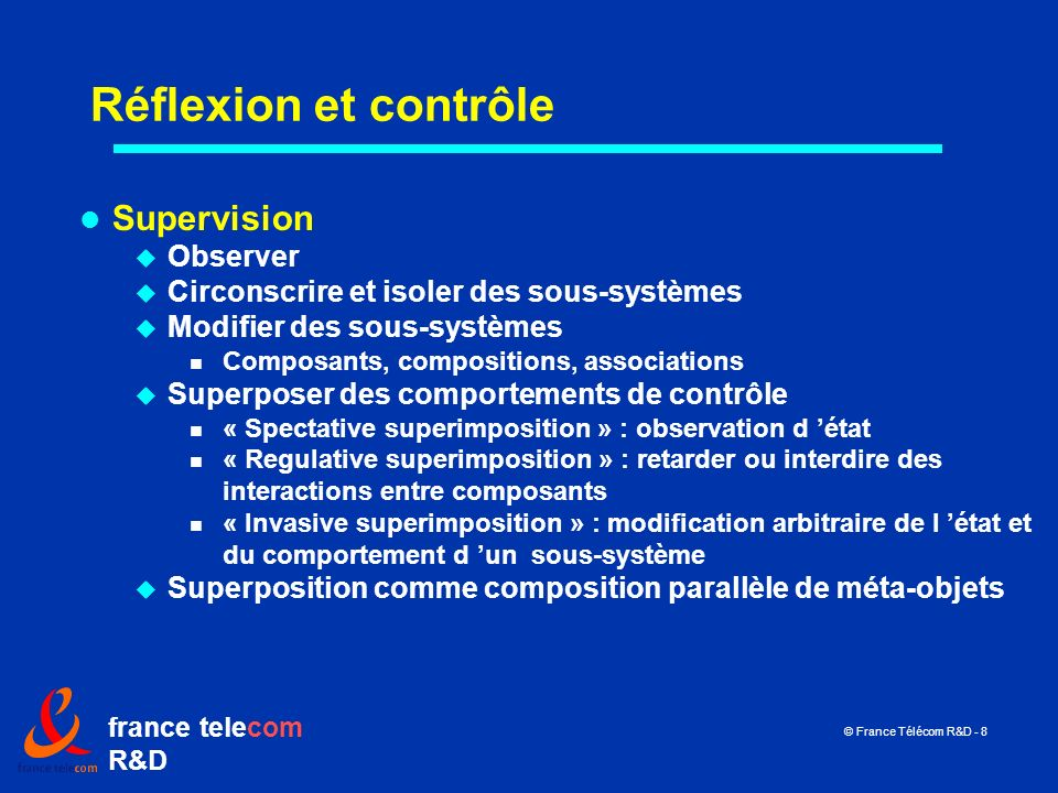 Réflexion et contrôle Supervision Observer