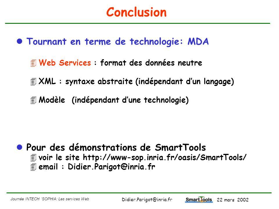 Conclusion Tournant en terme de technologie: MDA