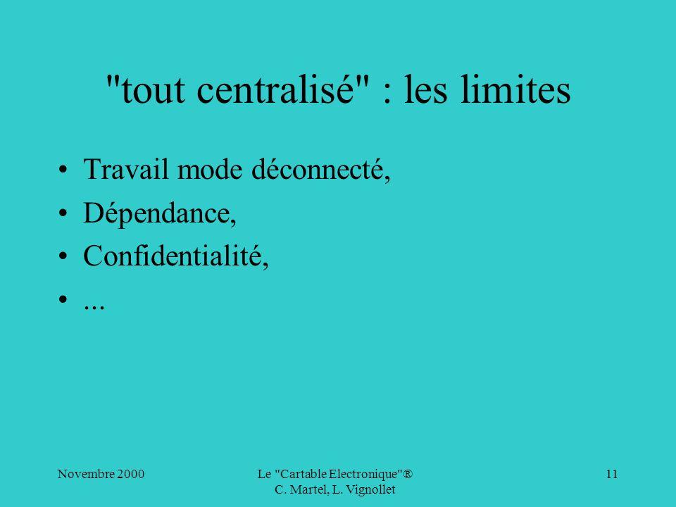 tout centralisé : les limites