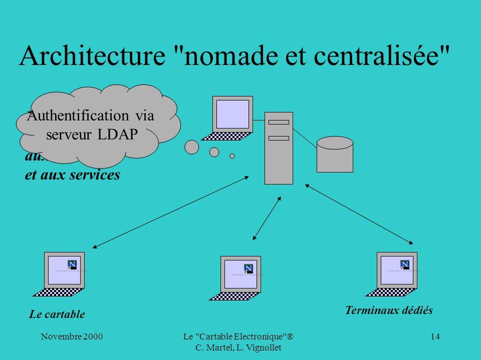 Architecture nomade et centralisée