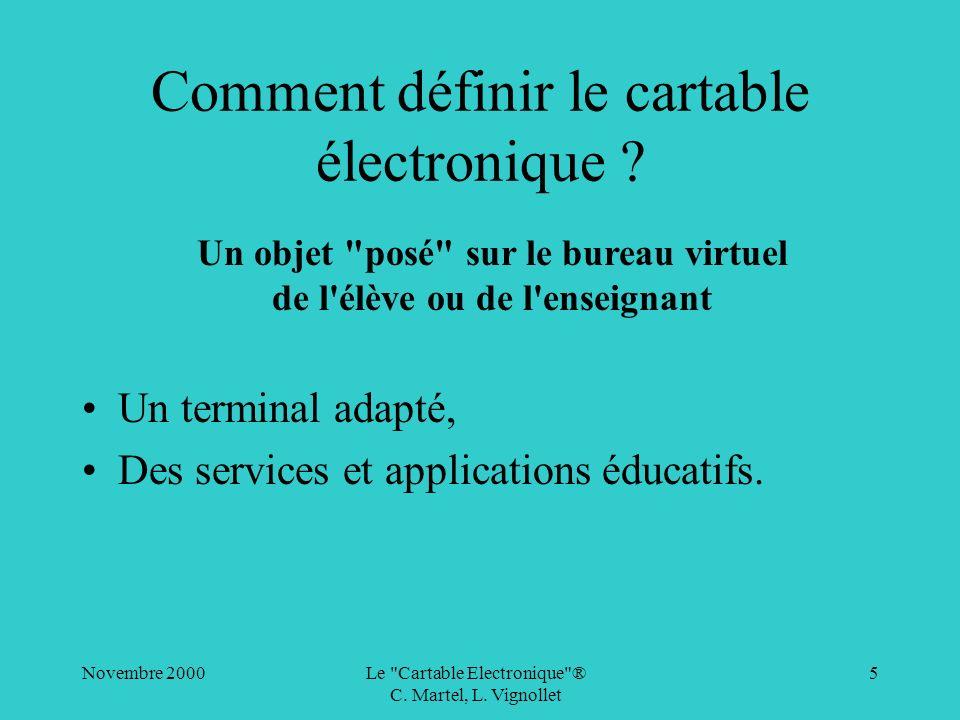 Comment définir le cartable électronique