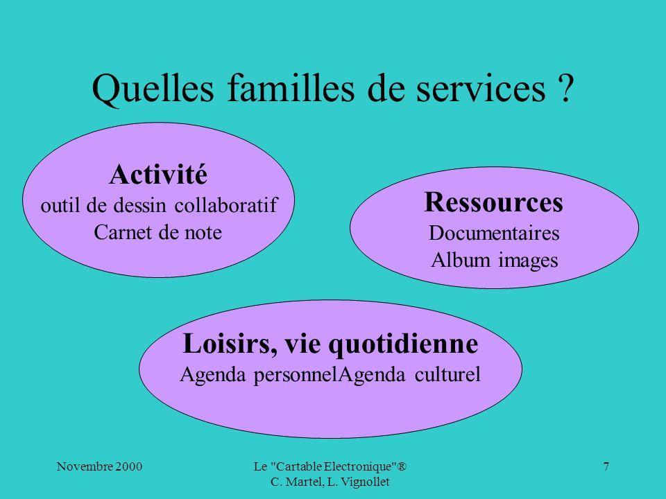 Quelles familles de services