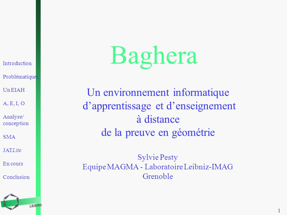 Baghera Un environnement informatique