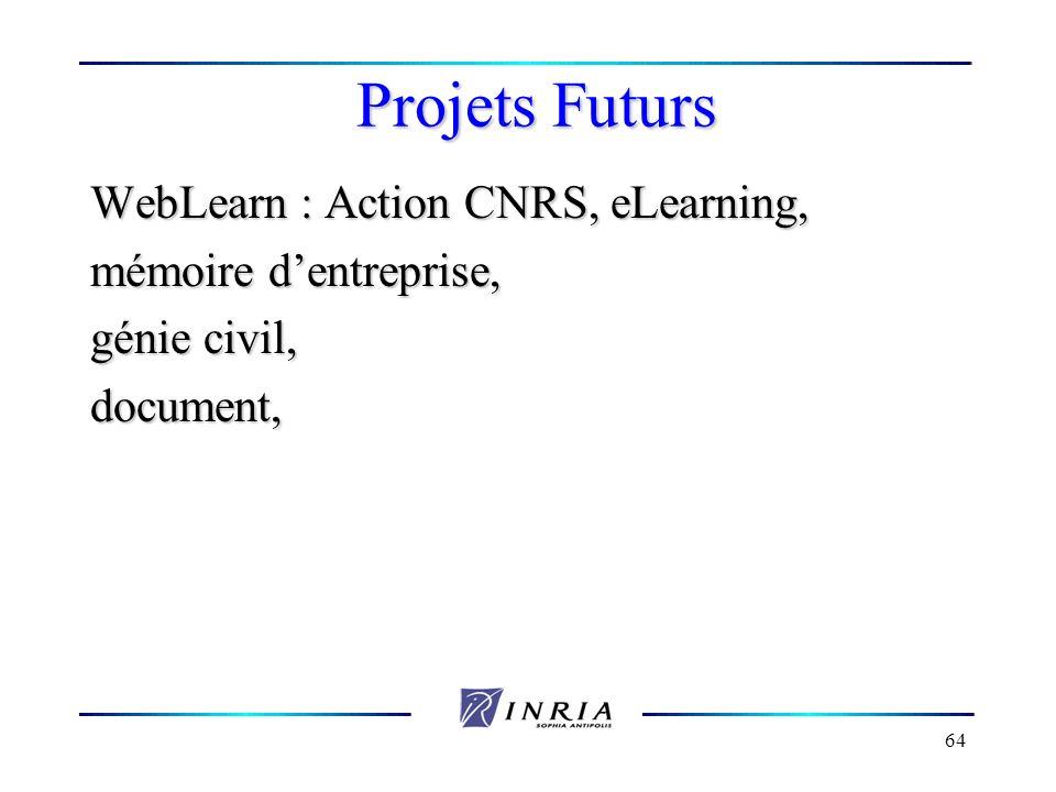 Projets Futurs WebLearn : Action CNRS, eLearning,