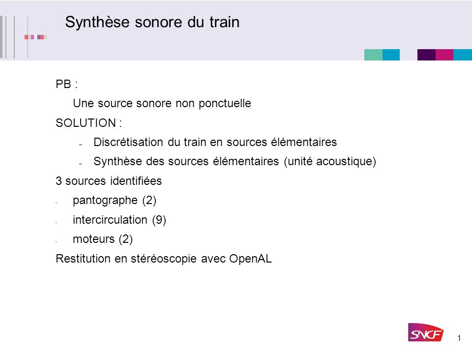 Synthèse sonore du train