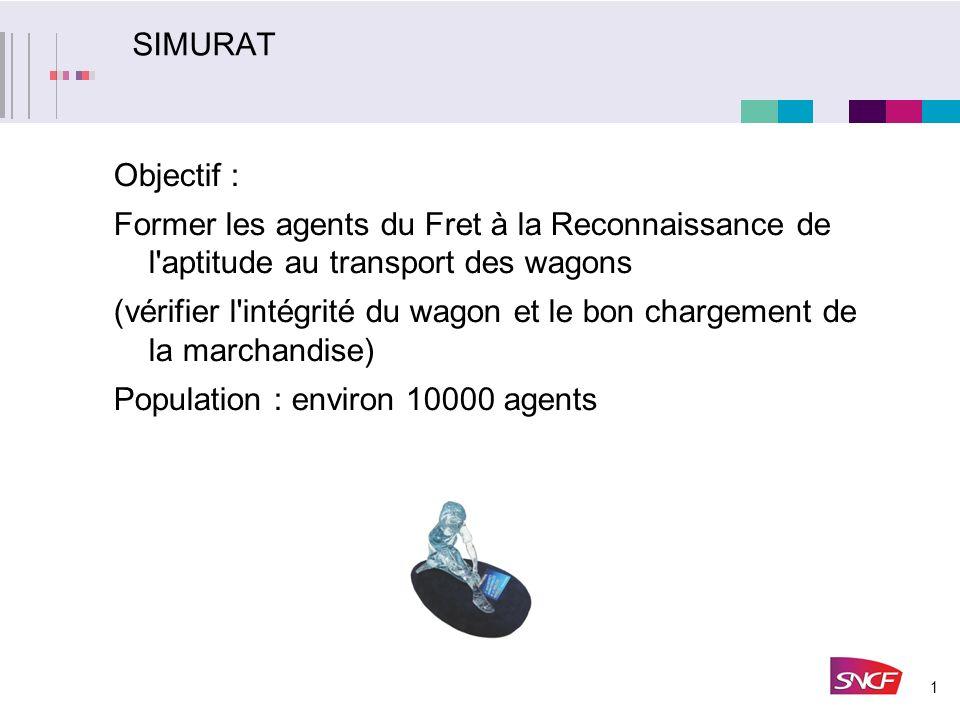SIMURAT Objectif : Former les agents du Fret à la Reconnaissance de l aptitude au transport des wagons.