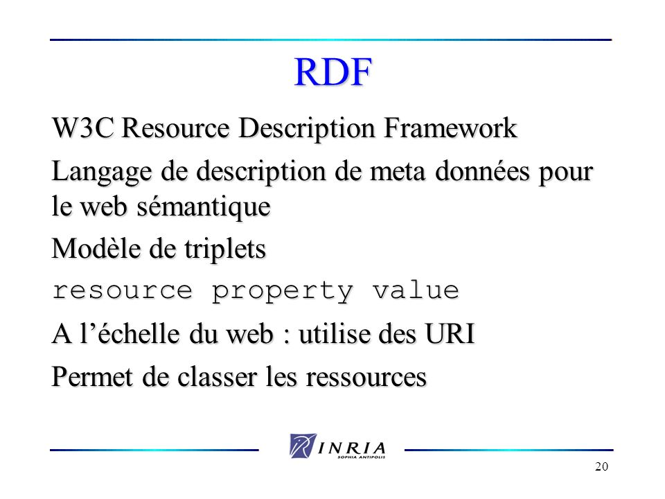 RDF W3C Resource Description Framework