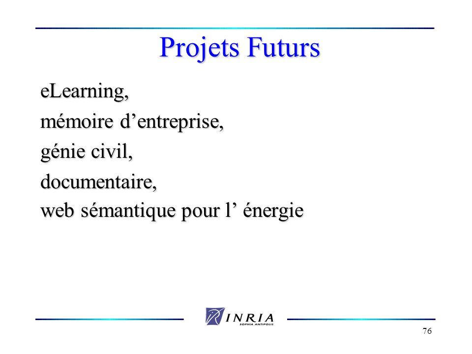 Projets Futurs eLearning, mémoire d'entreprise, génie civil,