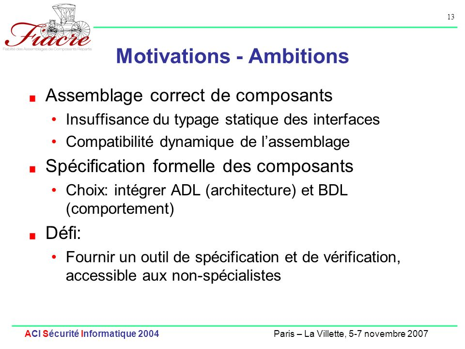 Motivations - Ambitions