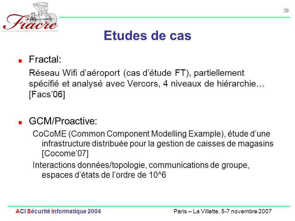 Etudes de cas Fractal: GCM/Proactive:
