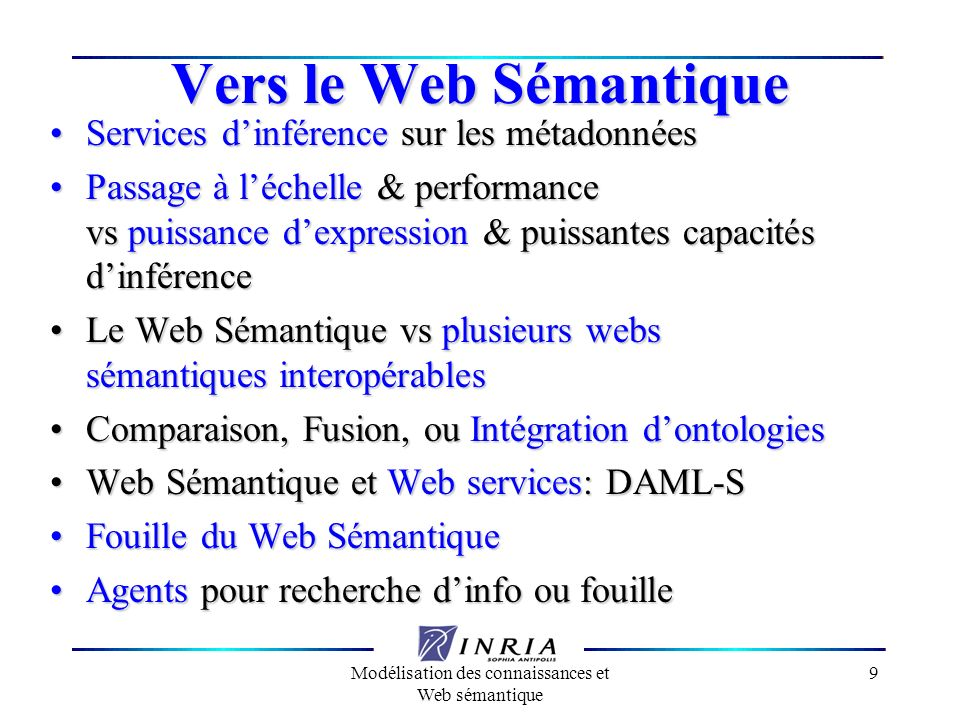 Modélisation des connaissances et Web sémantique
