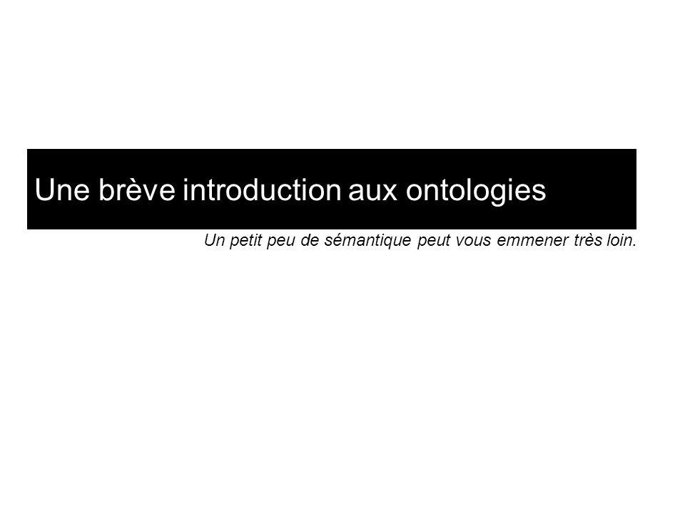 Une brève introduction aux ontologies