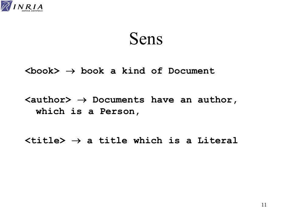 Sens <book>  book a kind of Document