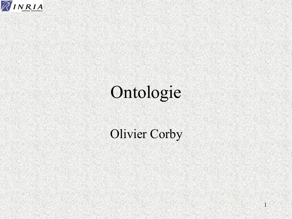 Ontologie Olivier Corby