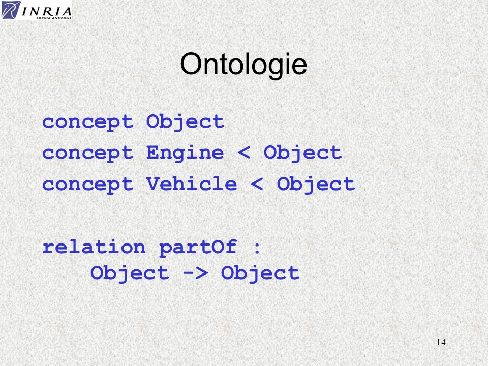 Ontologie concept Object concept Engine < Object