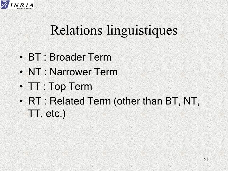 Relations linguistiques