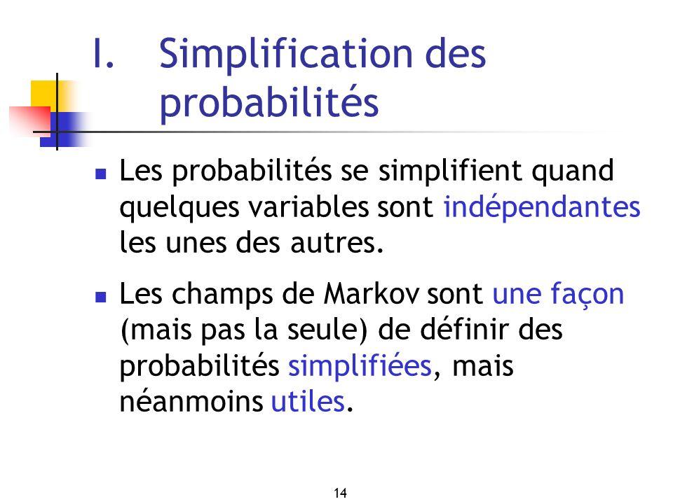 I. Simplification des probabilités