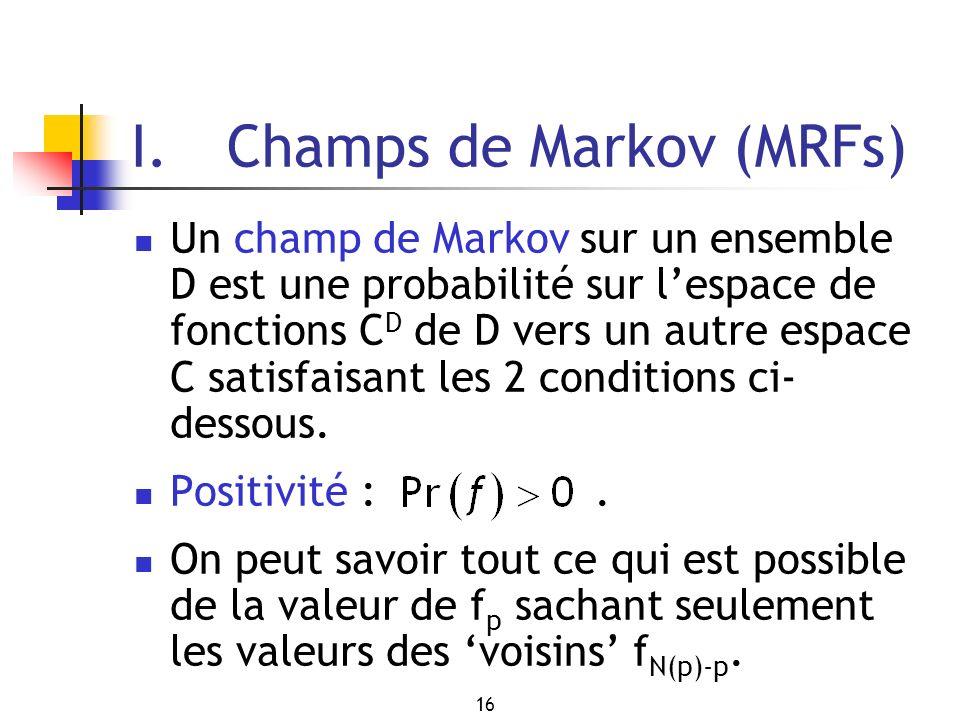 I. Champs de Markov (MRFs)