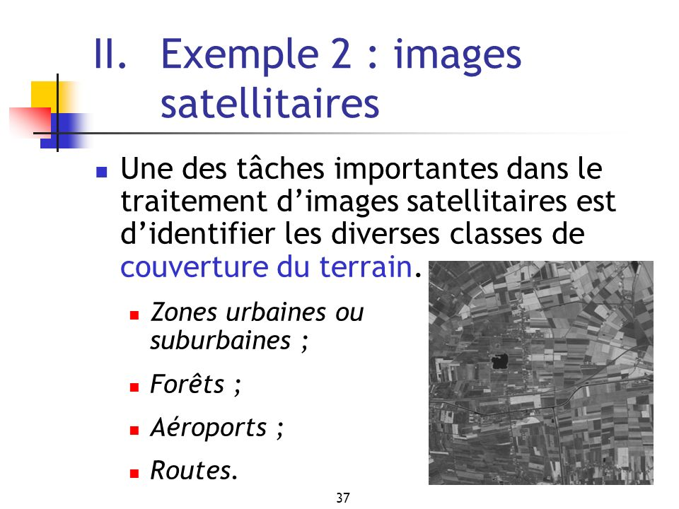 II. Exemple 2 : images satellitaires
