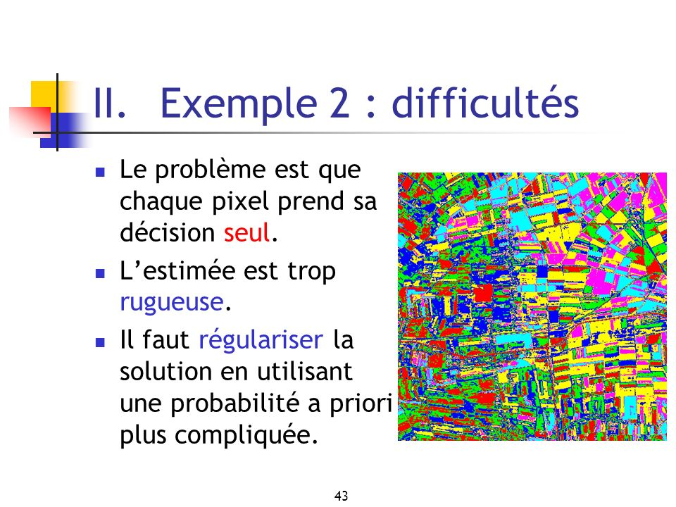 II. Exemple 2 : difficultés
