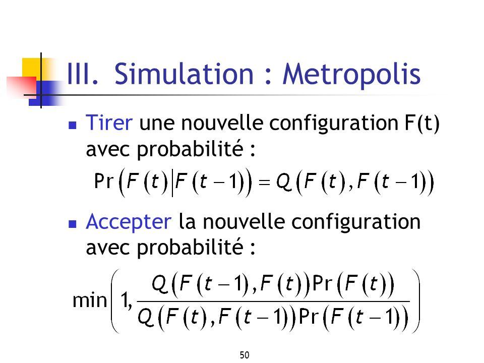 III. Simulation : Metropolis