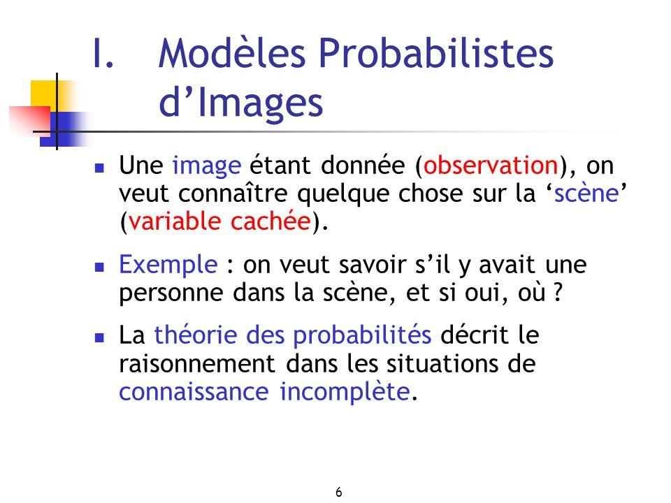 I. Modèles Probabilistes d'Images