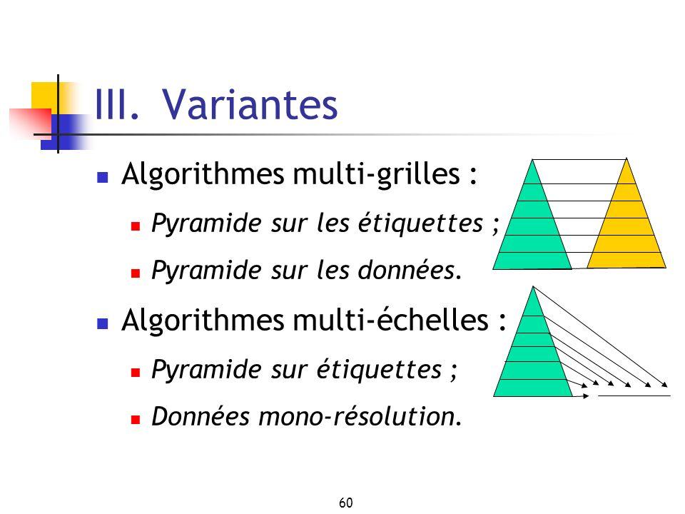 III. Variantes Algorithmes multi-grilles :