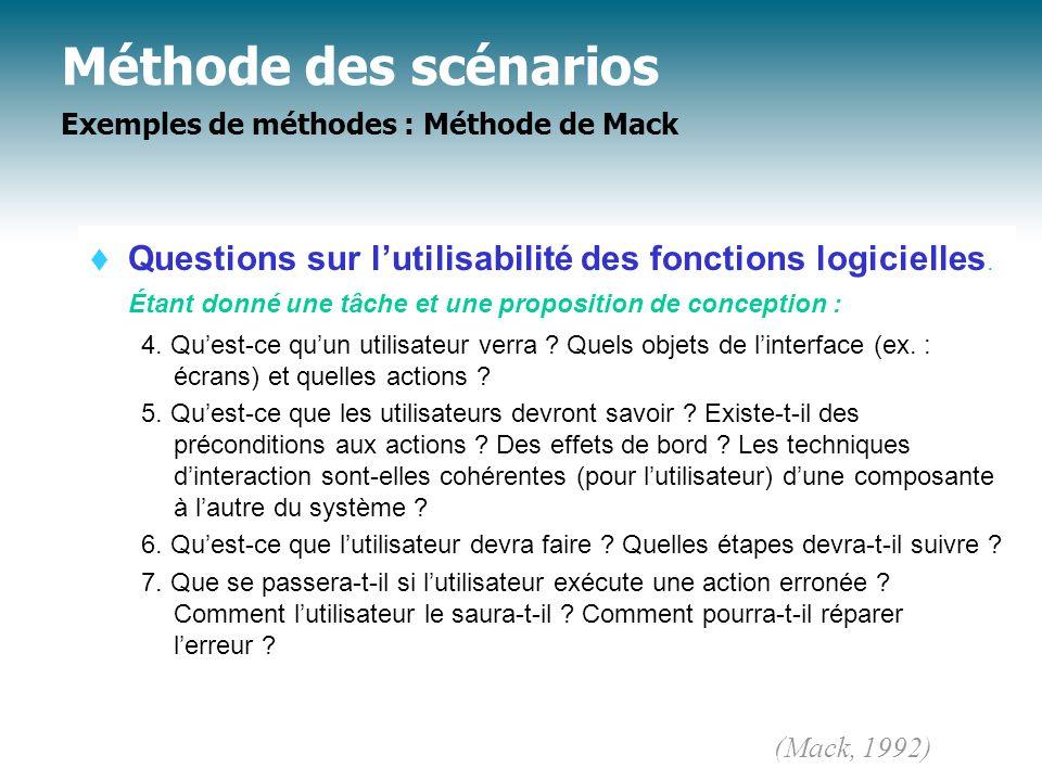 Méthode des scénarios Exemples de méthodes : Méthode de Mack