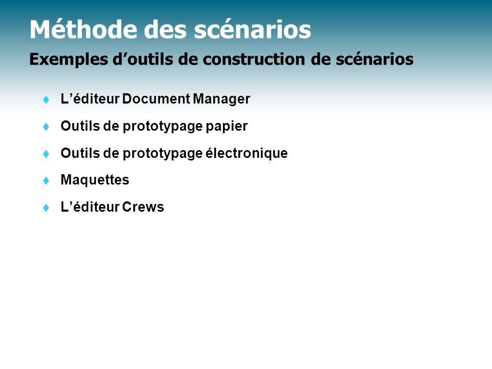 Méthode des scénarios Exemples d'outils de construction de scénarios