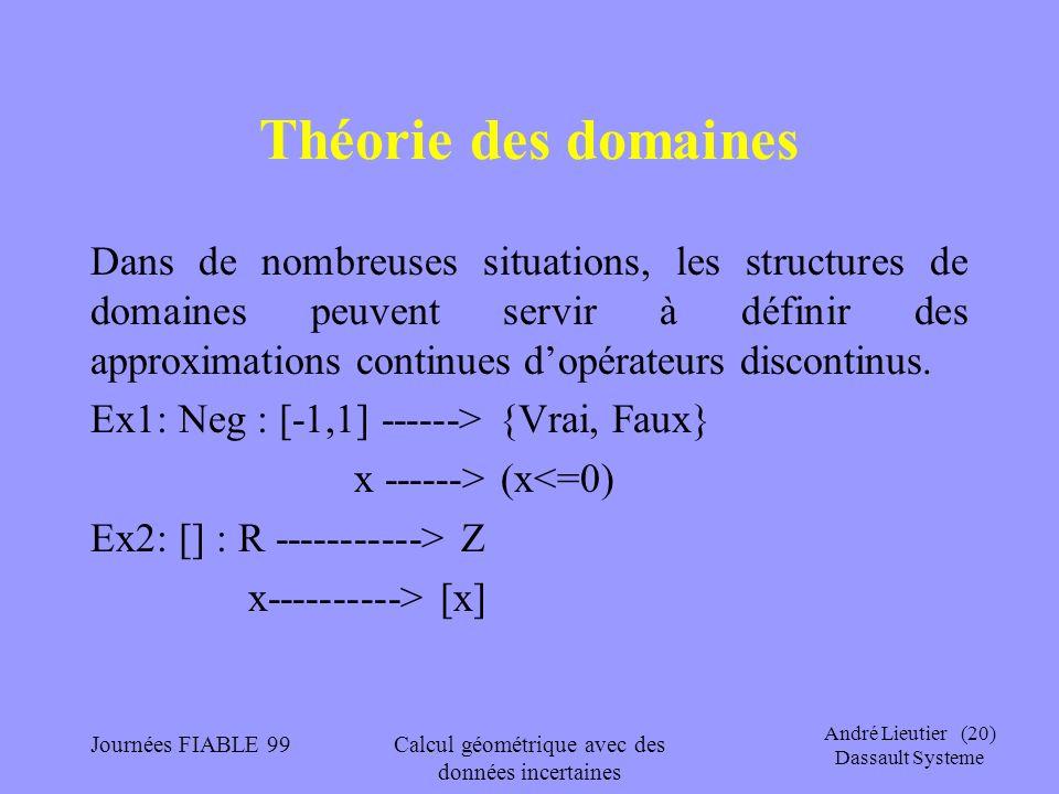 Calcul géométrique avec des données incertaines