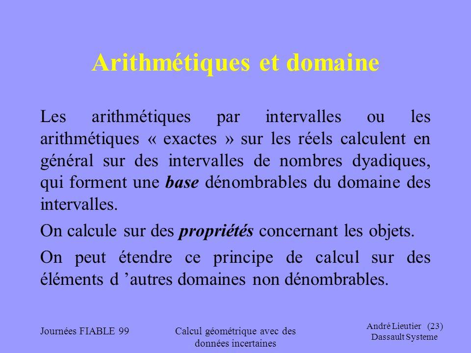 Arithmétiques et domaine