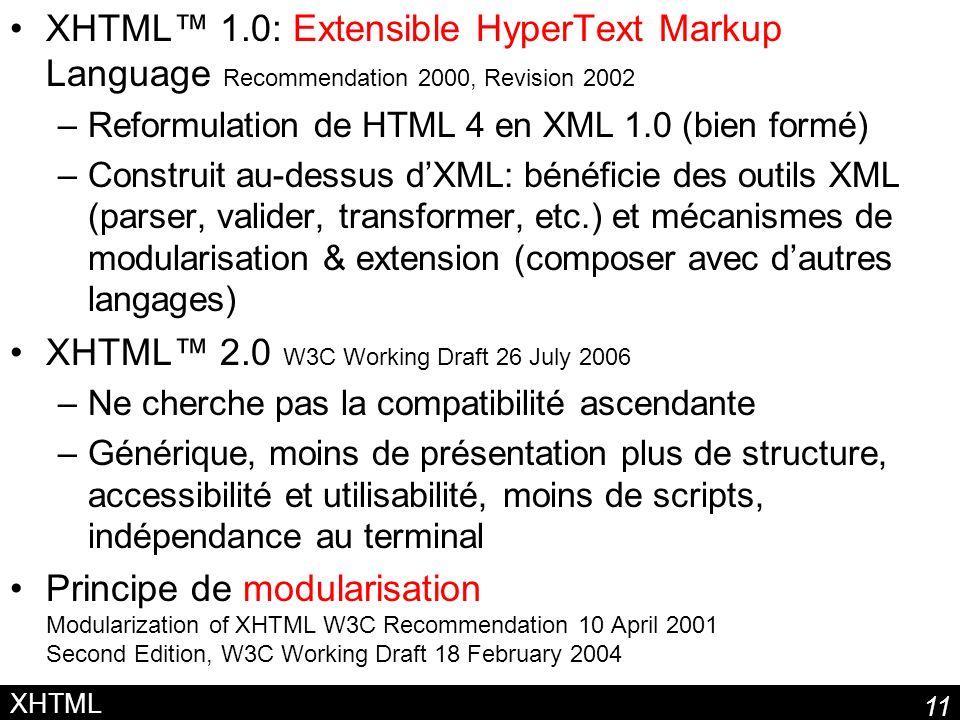 XHTML™ 2.0 W3C Working Draft 26 July 2006