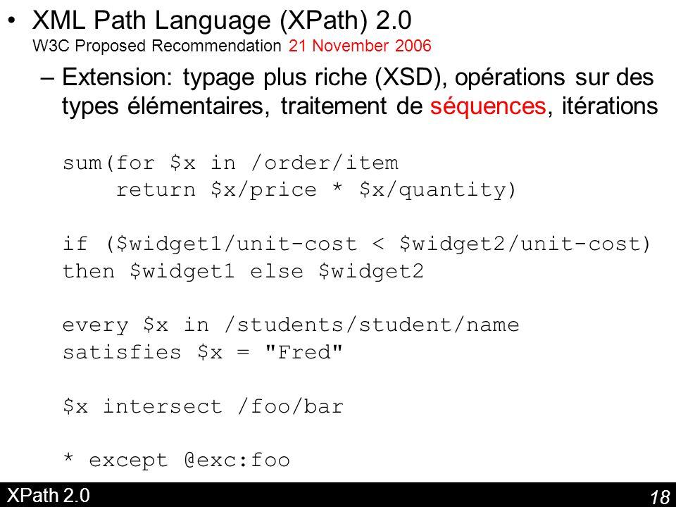 XML Path Language (XPath) 2