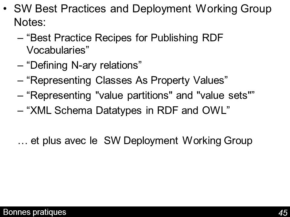 SW Best Practices and Deployment Working Group Notes: