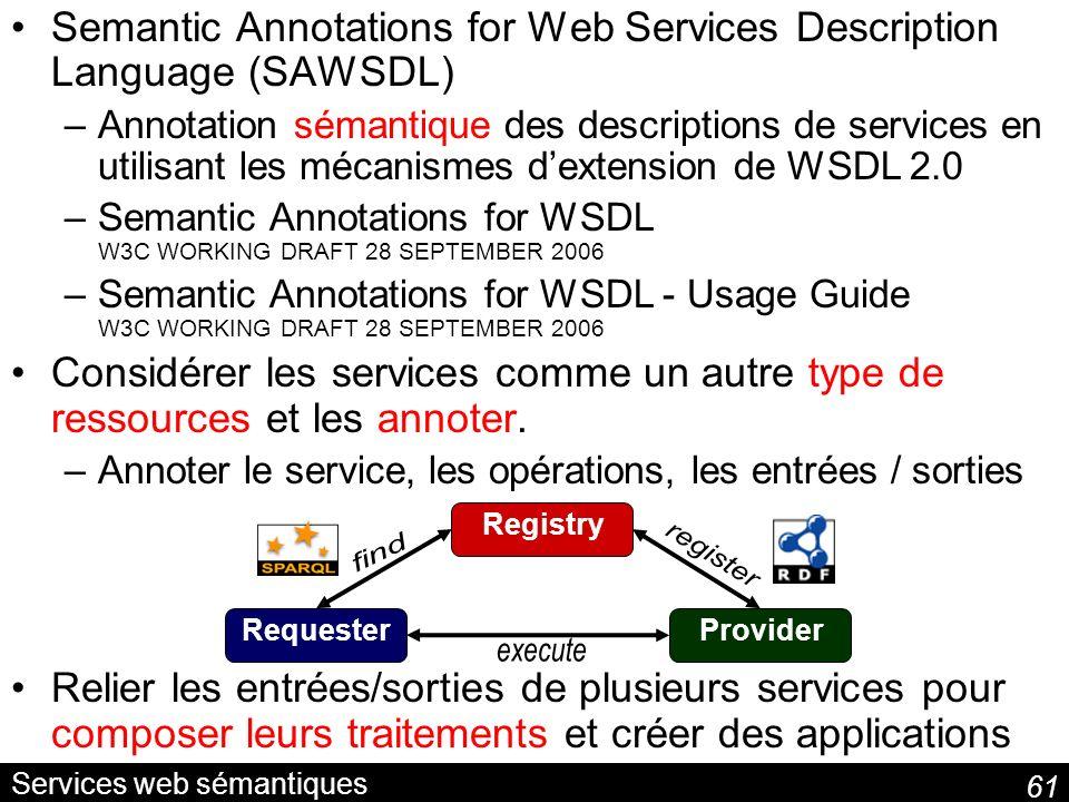 Services web sémantiques