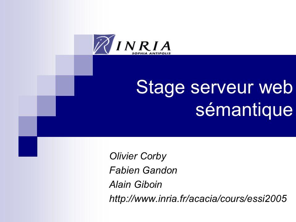 Stage serveur web sémantique