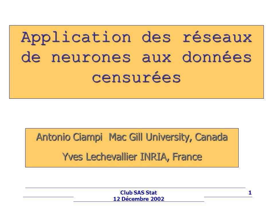 Application des réseaux de neurones aux données censurées
