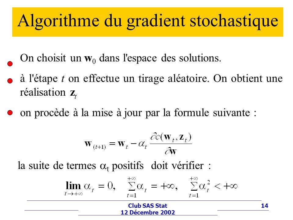 Algorithme du gradient stochastique