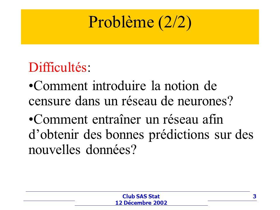Problème (2/2) Difficultés: