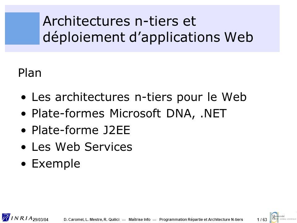 Architectures n-tiers et déploiement d'applications Web