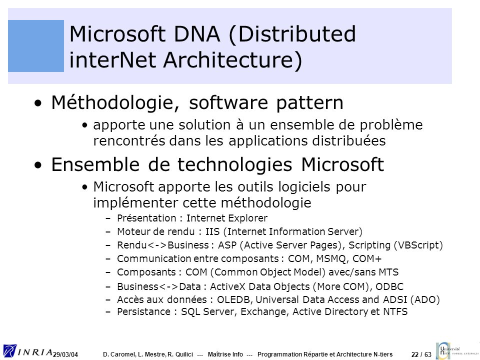 Microsoft DNA (Distributed interNet Architecture)