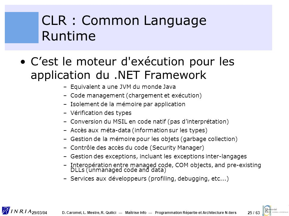 CLR : Common Language Runtime